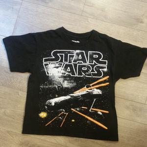 Black Kids Star Wars Spaceship T-Shirt